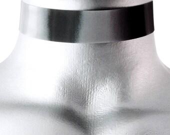 Black White Gray Hologram 3D Lenticular Choker Necklace