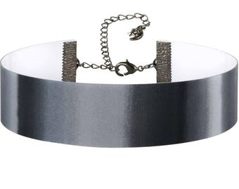 Adjustable Black White Gray Hologram 3D Lenticular Choker Necklace