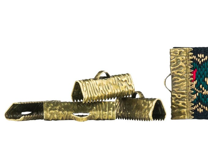 500 pieces - 20mm or 3/4 inch Antique Bronze Ribbon Clamps - Artisan Series