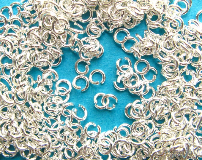 approx. 21000 4mm Bright Silver Lead Free Nickel Free Jump Rings