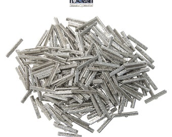 500 pieces  38mm  ( 1 1/2 inch )  Platinum Silver Ribbon Clamps - Artisan Series