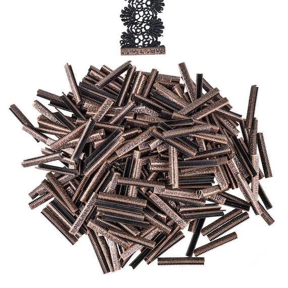 150 pièces 38 mm ou 1 1/2 1/2 1/2 pouce - Antique cuivre sans boucle de ruban Pince fin écraser - série Artisan 755c91