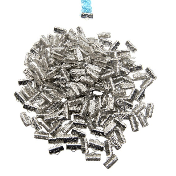 500 pieces 13mm (1/2 inch) Ribbon Clamps Artisan Series -- Platinum Silver, Gold, Gunmetal, Antique Bronze, Antique Copper