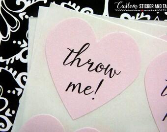 wedding sticker wedding decor 13 colors to choose toss me confetti bag stickers heart stickers wedding favor S-73 envelope seals