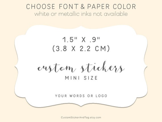 Personalised Rectangular Wedding Stickers//Labels Envelopes Seals in 3 sizes