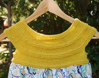 Hand Knit Child's Dress