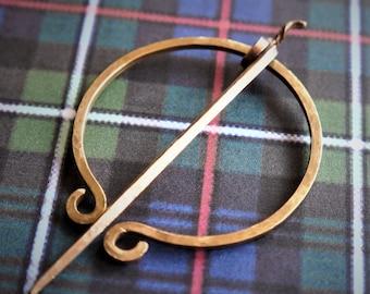 Outlander Inspired Penannular Brooch, Made to Order, Choose Metal, Celtic Shawl Pin, Re-enactment, Viking, Highlander, Ships from France