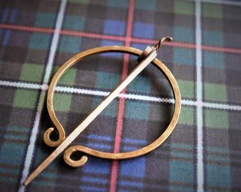 Outlander-Inspired Penannular Brooch / Mancessory / Made to Order / Highlander / Re-enactment Costume