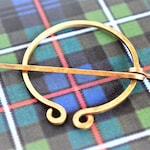 Outlander Inspired Penannular Brooch, Made to Order, Choose Metal, Celtic Shawl Pin, Re-enactment Costume, Viking Brooch, Free US Shipping