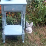 Table Vintage Farmhouse WOOD Nightstand /Cottage Accent Table Poppy Cottage Painted Furniture PAINT to ORDER Custom
