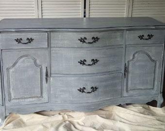 Sideboard French Provincial Bow Front Vintage /Wood  /Choose Your Color /PAINT to ORDER Poppy Cottage Painted Furniture