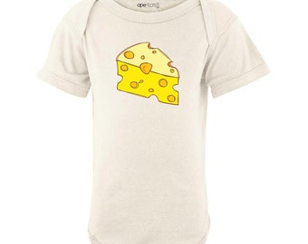 Apericots Cute Cheese (Goes With Macaroni) Funny Cute Design Baby Twins Best Friends Bodysuit