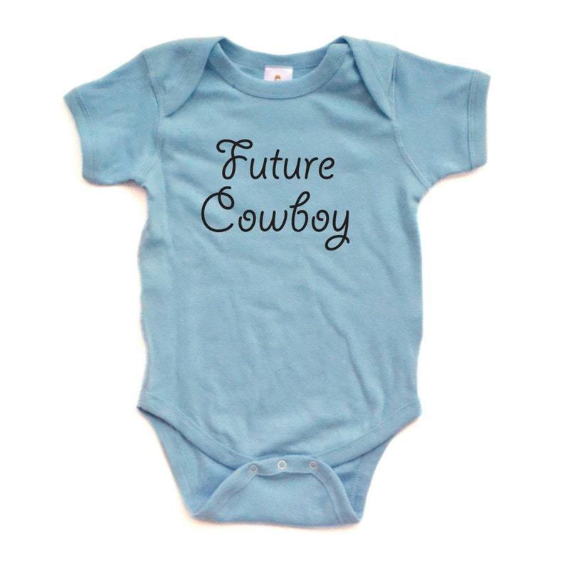 Adorable Baby Boy Country Western Future Cowboy Onesie | Stay at Home Mum