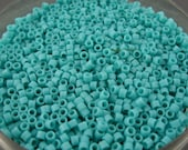 AIKO Precision Cylinder Beads Turquoise Matte Opaque 55F