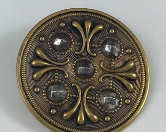 Antique Steel Cup Button - Late 19th Century
