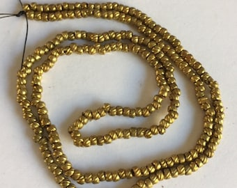EXTREMELY RARE - Antique Gold Torse Beads from circa 1870