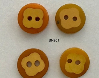 Vintage Bakelite Cookie Buttons - 4 Buttons