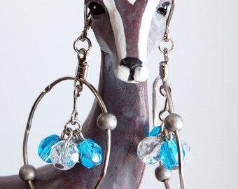 Helium Atom Earrings for the Science Geek, Bohr Model Chemistry Jewelry, Science Hoop Earrings, Science Teacher Gift