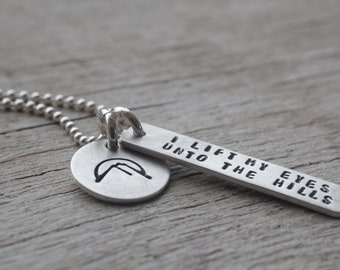 Sterling bible verse necklace / Psalm 121 / christian jewelry / religious graduation gift / christian gift / gift for confirmation / faith