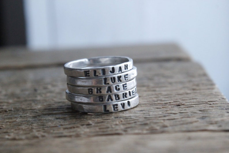 Personalized stacking rings/customized rings/kids name image 0