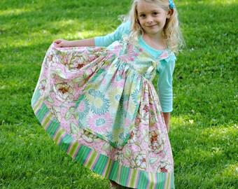 Girls Apron dress, Girls Clothing, Toddler Dress, Childrens Clothing, Girls Dresses, Toddler dress, Sundress, Pink, size 1T 2 3 4 5 6 7 8