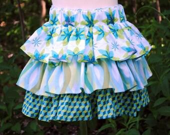 SALE!  Twirly Ruffled Skirt - Girl's Skirts, Toddler Skirts, Children Clothing, Girls clothing, Blue Skirts, Size 5