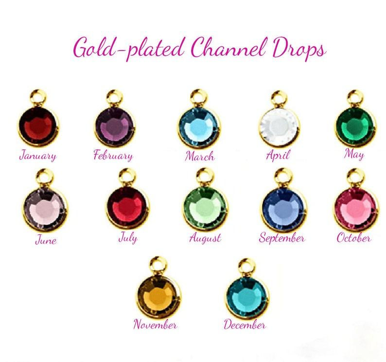 b8c7c82b60d77 Birthstone Gold Channel Set, birthstone jewelry, birthstone bracelet,  birthstone necklace, birthday necklace, birthday jewelry, gift for her
