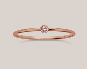 October Birthstone Ring, Girl gift, birthstone Ring, Birthday gift for teen, October birthday gift, stackable birthstone