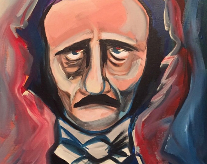 Edgar Allan Poe by Mark Redfield canvas print 16x20
