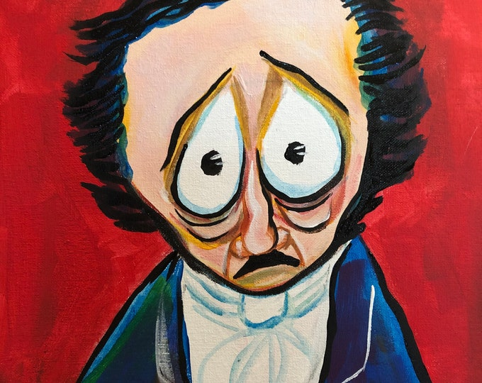 Sad Edgar Allan Poe (2020) by Mark Redfield
