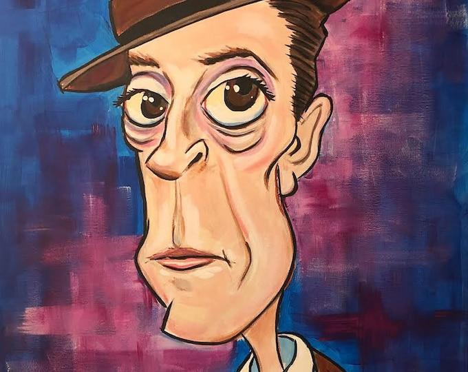 Buster Keaton (2020) by Mark Redfield Digital Canvas Print
