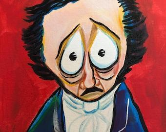 Sad Edgar Allan Poe (2020) by Mark Redfield