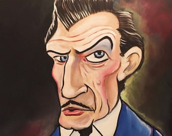 Vincent Price by Mark Redfield digital canvas print