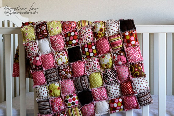 How To Make A Rag Puff Quilt Pattern PDF File Etsy Inspiration How To Make A Puff Quilt With Sewing Machine