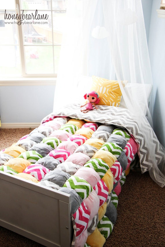 Twin Size Or Larger Puff Quilt Pattern PDF File Etsy Impressive Puff Quilt Patterns