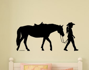 R097 Horses Field Living Bedroom Smashed Wall Decal 3D Art Stickers Vinyl Room
