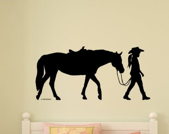Rodeo Wall Decal Personalized Name Bronco Rider Vinyl Wall Art