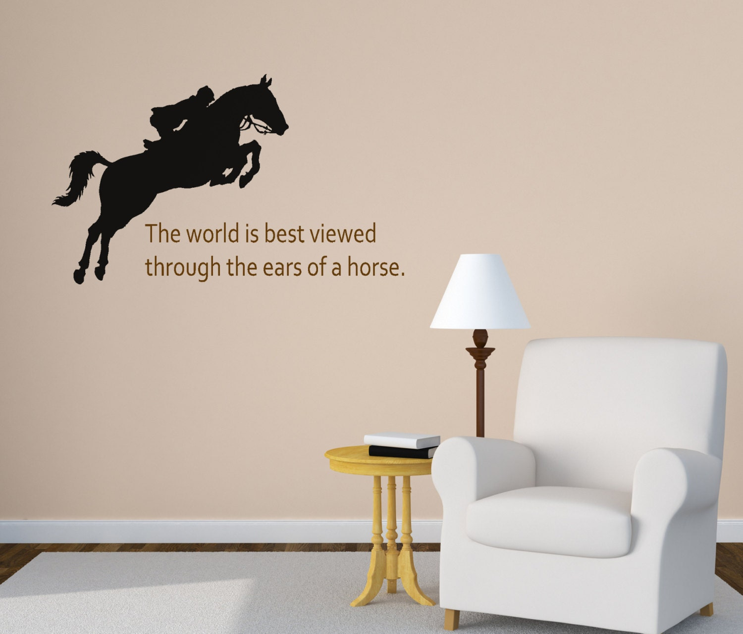 Horse Wall Decal Girls Bedroom Wall Decal Quote Wall Decal