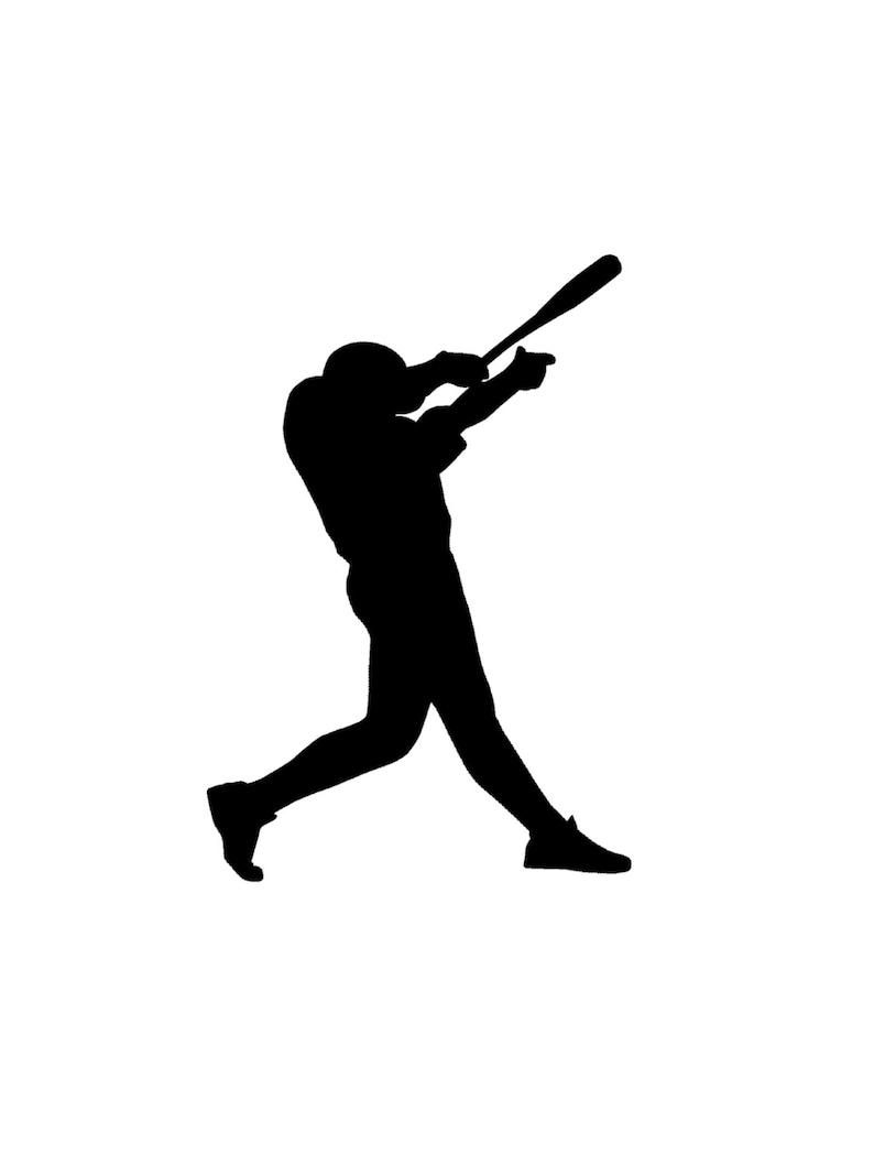 Los jugadores de béisbol Softbol Pared Calcomanía Personalizado Nombre 9 Pegatinas De Vinilo
