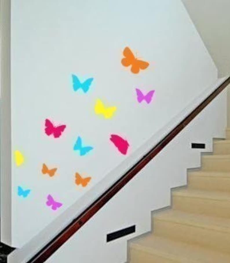 Butterfly Wall Decal Girls Bedroom Butterfly Dorm Room Wall Etsy