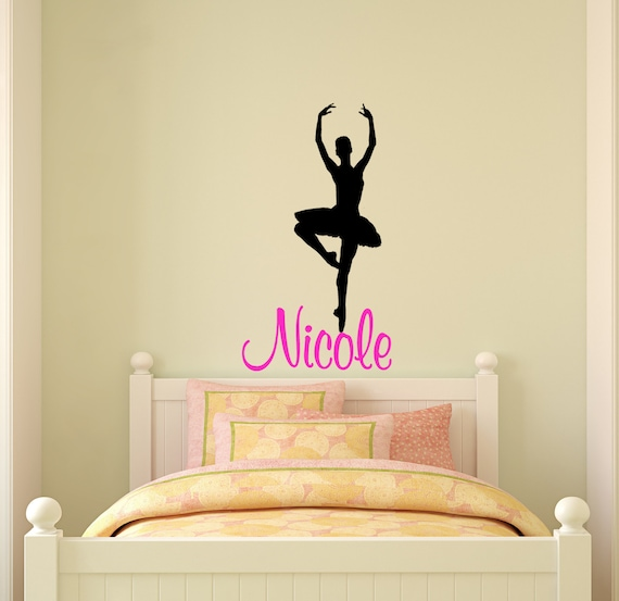 ballerina wandtattoo wandtattoo namen m dchen schlafzimmer etsy. Black Bedroom Furniture Sets. Home Design Ideas