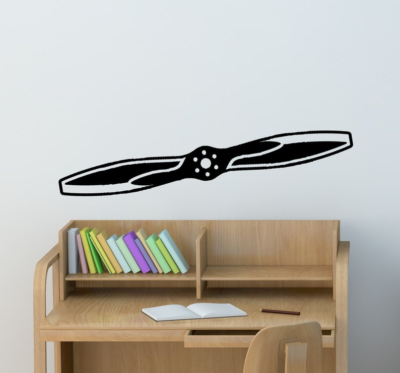 Airplane Wall Decal Aircraft Propeller Wall Sticker Aircraft Boys Bedroom  Decor Office College Dorm Room Aviation Decal Airplane propeller