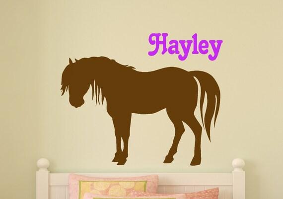 Paard decal meisjes gepersonaliseerde pony muur sticker baby etsy