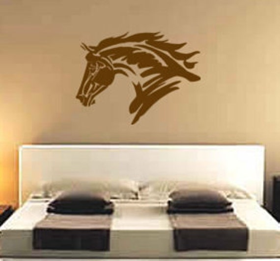 Horse Decal Teen Girls Western Wall Decor Mustang Sticker Pony | Etsy