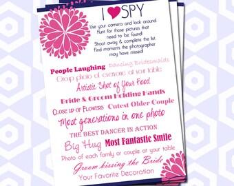I Spy Wedding Game - Custom Colors - Zinnia