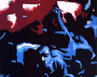 ON SALE! Crowded Dancefloor (Zanzu, Pretoria, South Africa) - Limited Edition Screenprint (1 of 15)