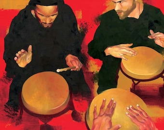 ON SALE! Drummer at Bembe, Brooklyn - Giclee Print - Limited Edition of 5