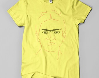 Frida Kahlo - Men's T-Shirt - Copper & Black on Yellow (Griot Apparel)