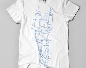 ON SALE! NY City Veins (Manhattan) - Men's tshirt