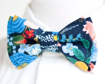 64ddd58c34a0 Bow Tie, Mens Bow Tie, Bowtie, Bowties, Bow Ties, Bowties, Groomsmen Bow  Ties, Floral Bow Ties, Rifle Paper Co - Garden Party In Navy